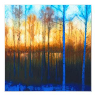 Winter Siljan Sunset Card