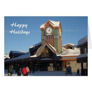 Winter Ski Village Card