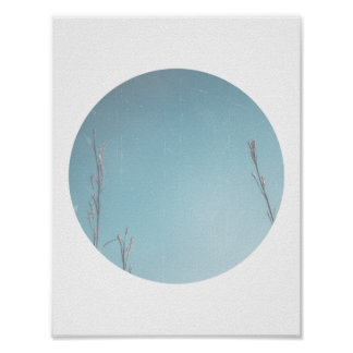 Winter Sky Geometric Print