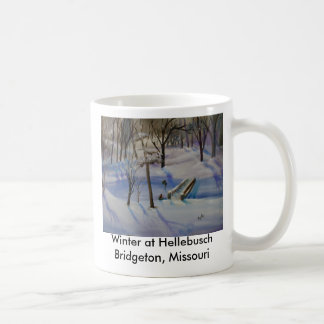 Winter Sleding, Winter at HellebuschBridgeton, ... Coffee Mug