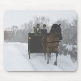 Winter Sleigh Ride Mouse Pad