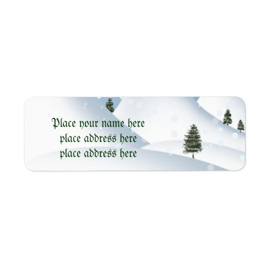 Winter snow address label