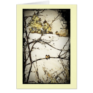 Winter Snow and Cold Greeting Card