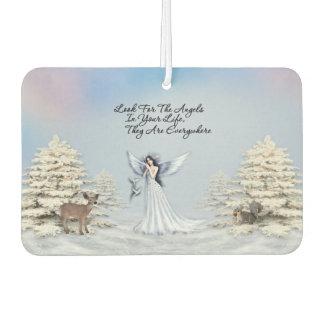Winter Snow Angels are Everywher Car Freshener
