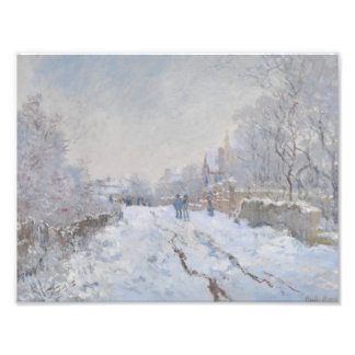 Winter Snow at Argeteuil Photo Print