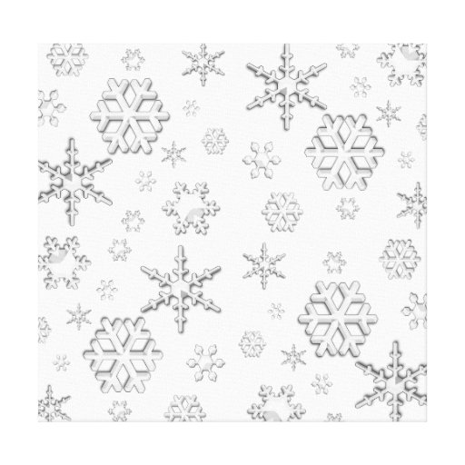 Winter Snow Stretched Canvas Prints