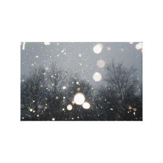 winter snow gallery wrap canvas
