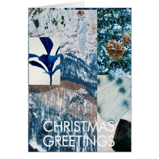 WINTER SNOW CHRISTMAS COLLAGE CARD