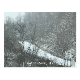 Winter Snow Country Road Morgantown WV Postcards