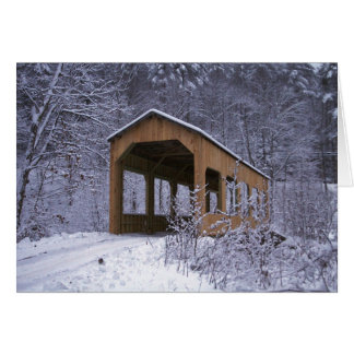 Winter Snow Covered Bridge Greeting Card