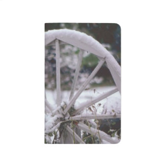 Winter Snow Covered Wagon Wheel Rustic Scenic Journals