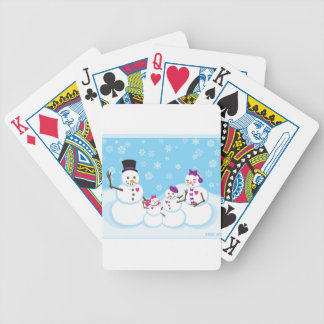 Winter Snow Family Bicycle Playing Cards