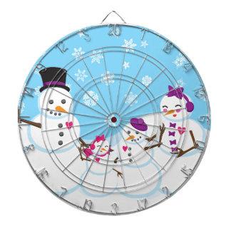 Winter Snow Family Dartboard