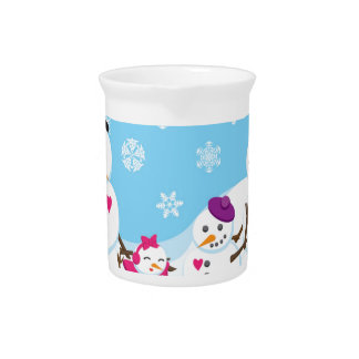 Winter Snow Family Pitcher