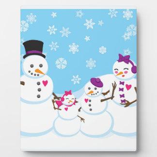 Winter Snow Family Plaque