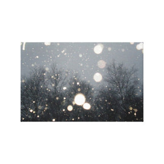 winter snow gallery wrapped canvas