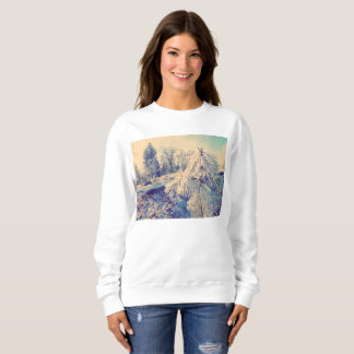 Winter Snow Pine Photograph Sweatshirt