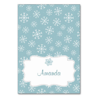 Winter Snow Place Card