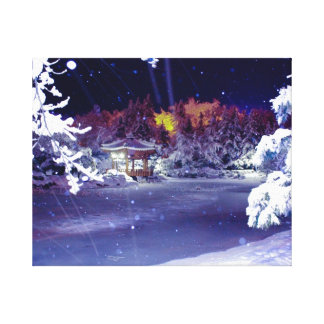 Winter Snow Pond Canvas Prints