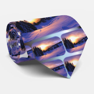 Winter Snow Scene in Italy Tie