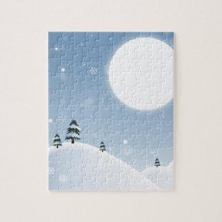 Winter Snow Scene Jigsaw Puzzle
