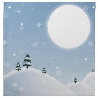 Winter Snow Scene Napkin