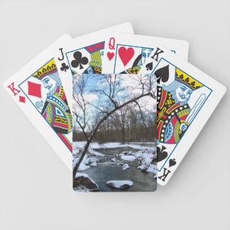 WINTER SNOW SCENE PLAYING CARDS