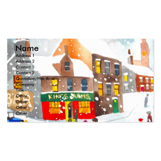 Winter snow scene watercolour painting G Bruce Pack Of Standard Business Cards