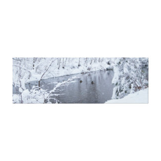 Winter Snow Scenery Wrapped Canvas Canvas Prints