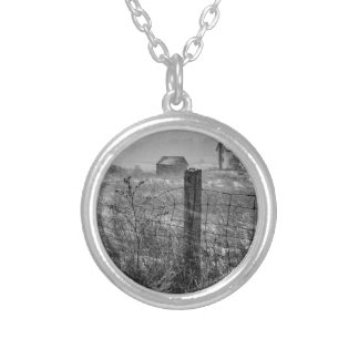 Winter Snow Silver Plated Necklace