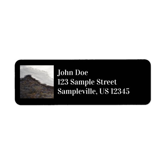 Winter Snow Stream Stripes Abstract Photography Return Address Label