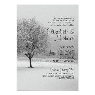 Winter Snow Wedding Invitation