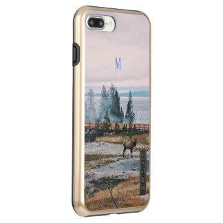 Winter Snowfall trees reindeer joy holidays Incipio DualPro Shine iPhone 8 Plus/7 Plus Case