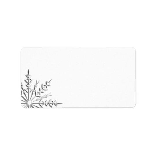 Winter Snowflake Address Label