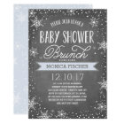 Winter Snowflake Baby Shower Brunch Chalkboard Card