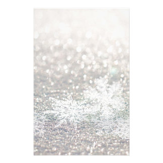 Winter Snowflake Bokeh Bling Stationery