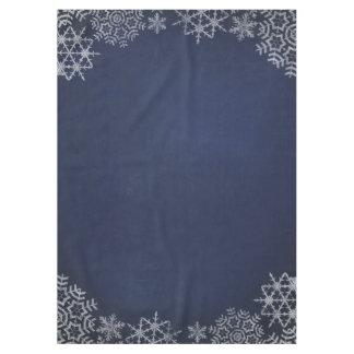 Winter Snowflake Chalkboard Wedding Tablecloth