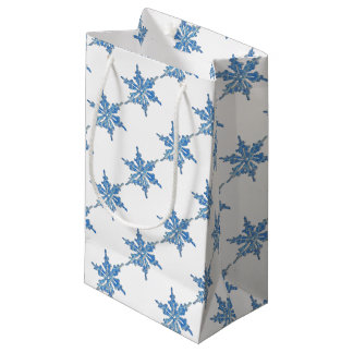 Winter Snowflake Design for Xmas 3 Small Gift Bag