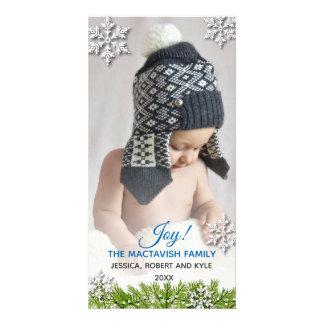 Winter Snowflake Holiday Photo Card