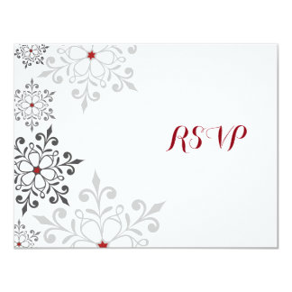 Winter Snowflake Holiday RSVP Card 11 Cm X 14 Cm Invitation Card