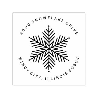 Winter Snowflake | Holiday Self-inking Stamp