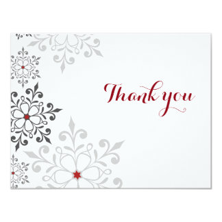Winter Snowflake Holiday Thank You Card 11 Cm X 14 Cm Invitation Card