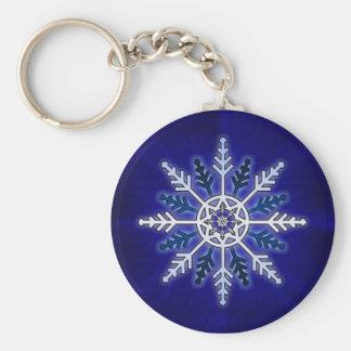 Winter Snowflake Key Ring