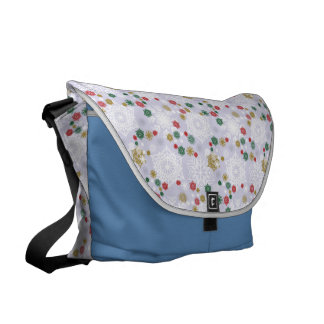 Winter Snowflake Pattern Messenger Bag