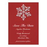 Winter Snowflake Save the Date 13 Cm X 18 Cm Invitation Card