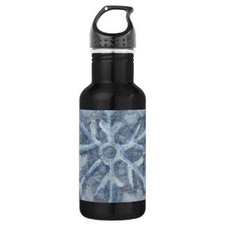 Winter Snowflake Watercolor 532 Ml Water Bottle