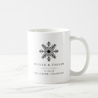 Winter Snowflake Wedding Favor Coffee Mug