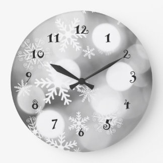 Winter snowflakes beautiful wall clock