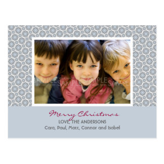 Winter Snowflakes Christmas Photo Postcard