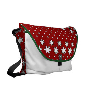 Winter Snowflakes Courier Bag